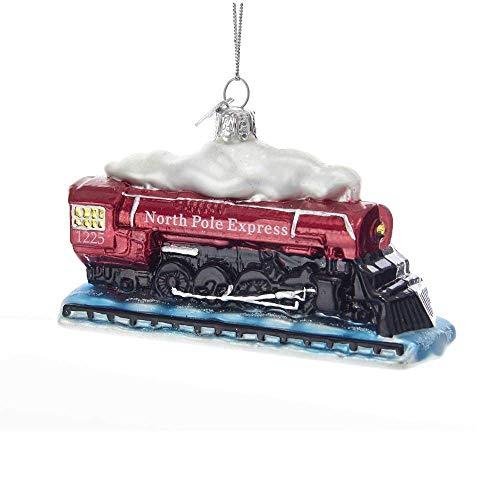 Kurt Adler Noble Gems Glass Locomotive Ornament