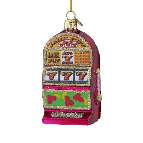 Kurt Adler Casino Royale Noble Gems Slot Machine Glass Christmas Ornament