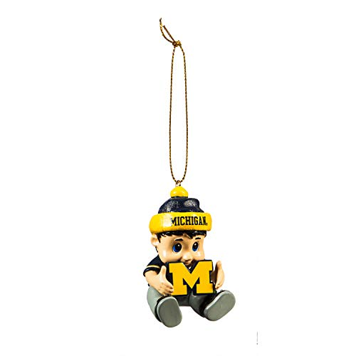 Team Sports America NCAA University of Michigan Remarkable Adorable Lil Fan Christmas Ornament – 2″ Long x 2″ Wide x 3″ High