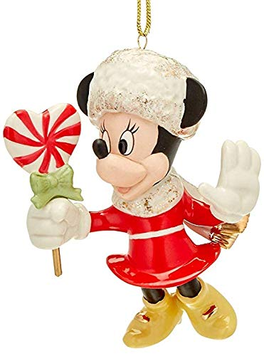 Lenox Walt Disney Sweetheart Minnie Mouse with Candy Ivory Porcelain cute ornament 24 k Gold New In box