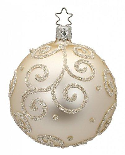 Inge-Glas Kugel Ball 8 cm Barocco Champagne 20256T008 German Christmas Ornament