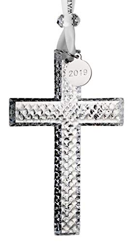 W Waterford Crystal Cross Ornament