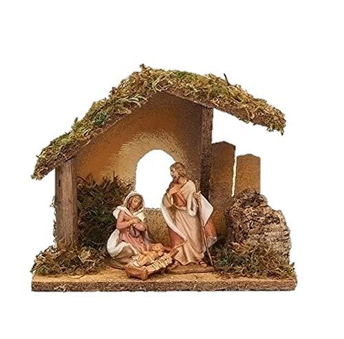 Fontanini 55085 3.5″ Scale 3 Figure Nativity with Italian Stable