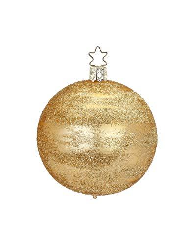 Inge-Glas Ball Glittering 6cm Inkagold Matte 20927T006 German Glass Ornament