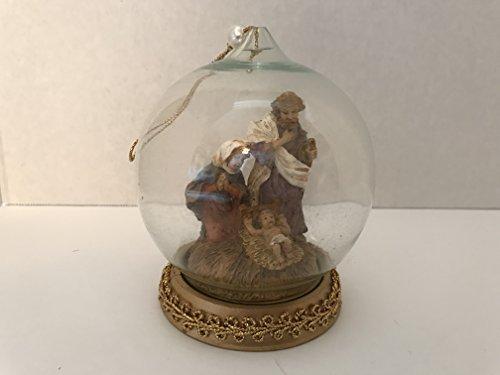 Fontanini Nativity in Glass Dome Ornament