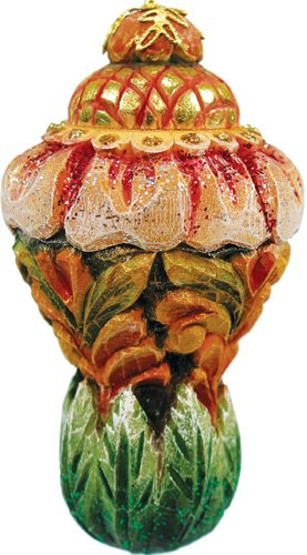 G.DEBREKHT / RUSSIAN GIFT Sugarplum Dream Ornament – Russian Hand Crafted Hand Painted Folk Art 62215-1-GDB