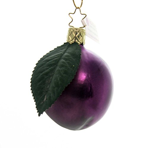 Inge-Glas Harvest Plum Ornament Glass Fruit Christmas 10040S018