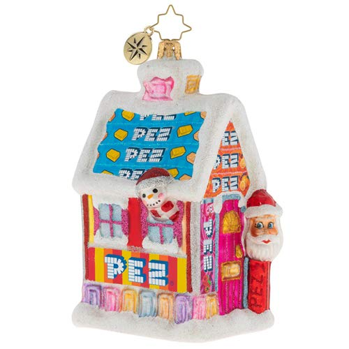 Christopher Radko Santa's PEZ House! Christmas Ornament