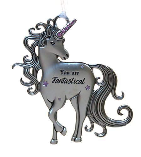 Ganz 3 Inch Inspirational Zinc Unicorn Ornament – You are Fantastical