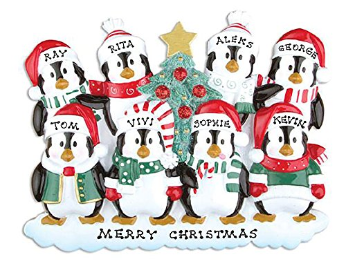Polar X Personalized Christmas Ornament Penguins Family (Family 8)