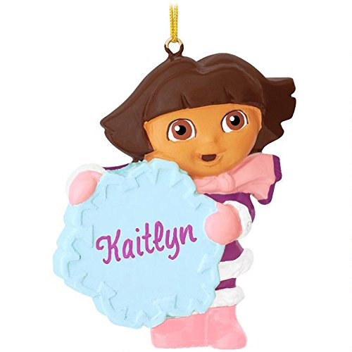 Dora The Explorer Snowflake Personalized Christmas Tree Ornament