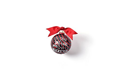 Coton Colors 100 MM Ohio State Word Collage Glass Ornament