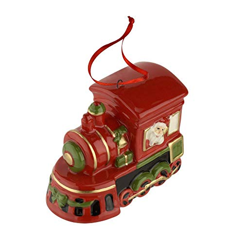 Spode Christmas Tree Train Engine Ornament 3″