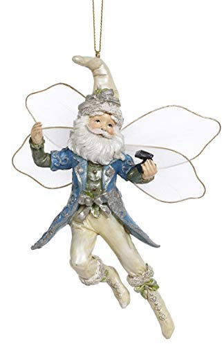 Mark Roberts Resin Limited Edition Fairy Hanging Ornament with Fabric Wings 6 Inches (Jewel Fairy 63-93262)