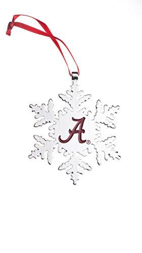 Collegiate Pulse Alabama Crimson Tide NCAA Snowflake Christmas Ornament