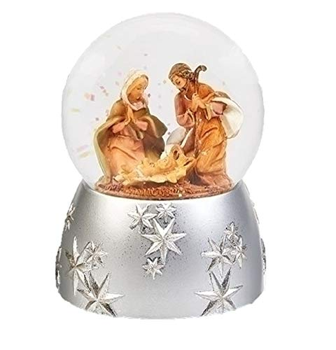 Fontanini 59098 6″ H Musical Naivity Scene 100mm Wind Up Glitter Dome Plays Joy to The World