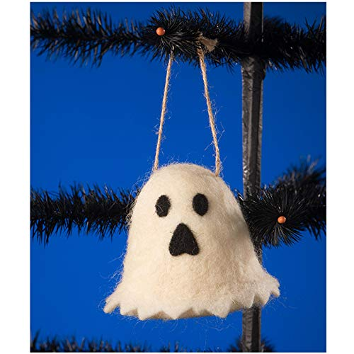 Bethany Lowe Felted Fuzzy Ghost Retro VNTG Style Halloween Classic Tree Ornament