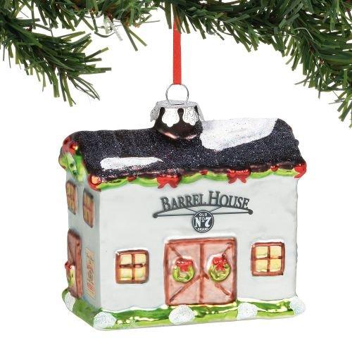 Department 56 Jack Daniels Barrel House, 3.78″ Hanging Ornament, Multicolor