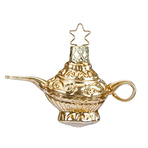 Inge-Glas Magic Lamp Alladin Genie 10135S018 German Blown Glass Christmas Ornament