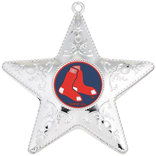 MLB Boston Red Sox Silver Star Ornament, 2-Pack