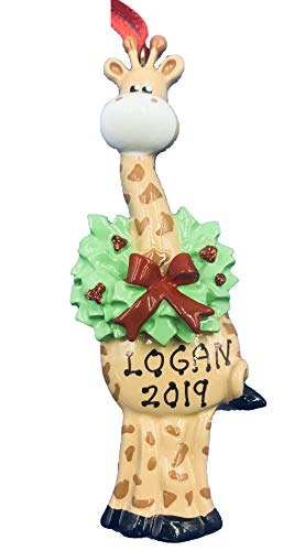Rudolph and Me Personalized Giraffe Christmas Ornament 2019