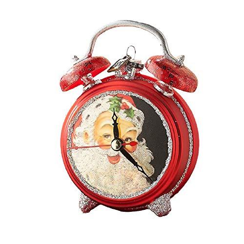 Raz 4.5″ Vintage Style Santa Clock Ornament