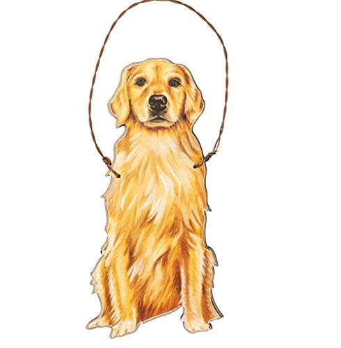 Primitives by Kathy Golden Retriever Hanging Ornament