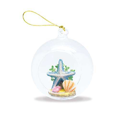 Island Heritage Hawaiian Starfish Hand-Painted Glass Globe Hawaii Christmas Ornament