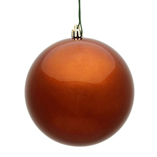 Vickerman 483923-4″ Copper Candy Ball Christmas Tree Ornament (6 pack) (N591088DCV)