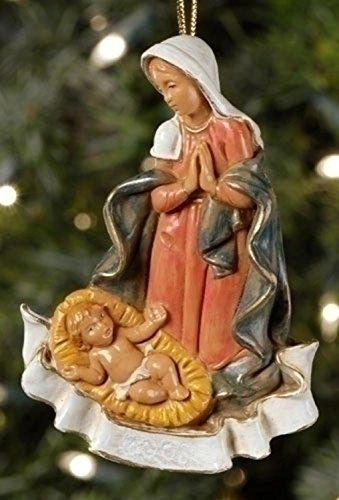 Roman Fontanini Mary with Baby Jesus Christmas Nativity Ornament #56324