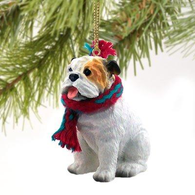Conversation Concepts Bulldog White Original Ornament (Set of 6)