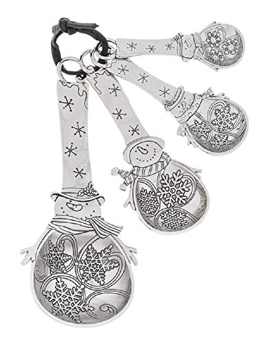 Ganz Measuring Spoons with Out Color Snowman Set of 4