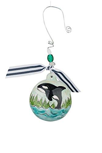Glory Haus Orca Whale Christmas Ball Ornament, Multicolor