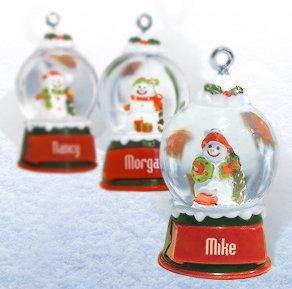 "Christmas Snow Globe Ornament ""Jackson"""