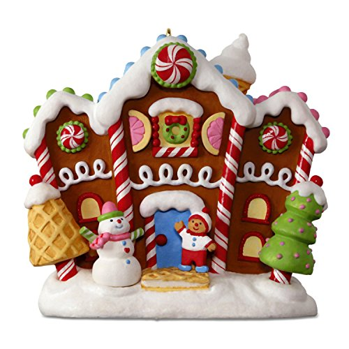Hallmark Keepsake 2017 Gingerbread Merriest House in Town Musical Christmas Ornament With Light