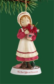 """Carlton Heirloom """"Holly Hobbie's Holiday Gifts"""" Christmas Ornament #3740433"""