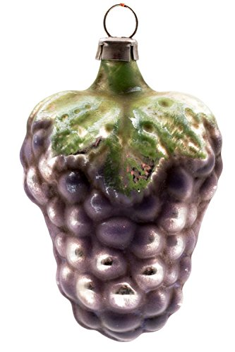 Marolin Small Grape with Leaf MA2011108 German Glass Ornament w/Gift Box