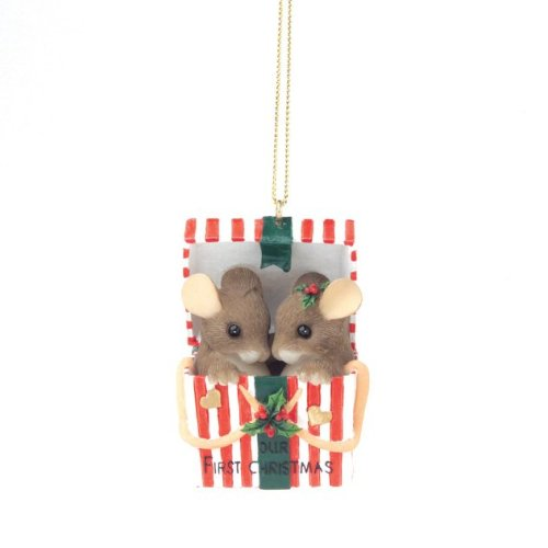 Pakaged with Love Our 1st Christmas, Charming Tails Ornament 86132