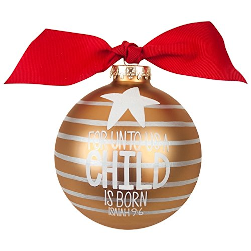 Coton Colors for Unto Us a Child is Born Glass Ornament