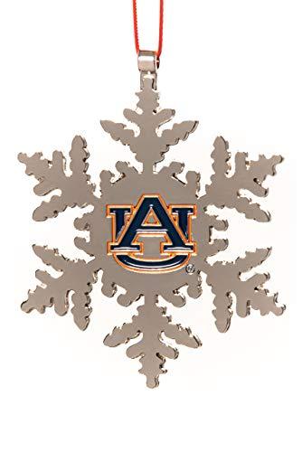 Collegiate Pulse Auburn Tigers NCAA Snowflake Christmas Ornament