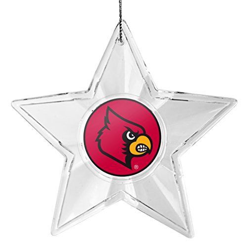 NCAA Louisville Cardinals Traditional Acrylic Star Ornament