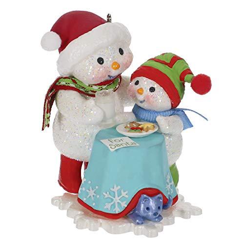 Hallmark Keepsake Christmas Ornament 2019 Year Dated Making Memories Milk and Cookies Snowman,
