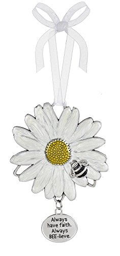Ganz Spring Easter or Everyday Decor Meant to Bee Flower Ornament (Have Faith)