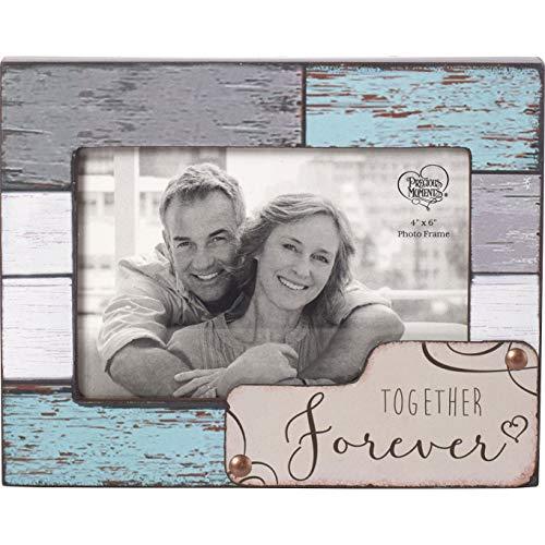 Precious Moments Farmhouse Decor Together Forever Wood/Glass 4 x 6 Photo Frame 189909