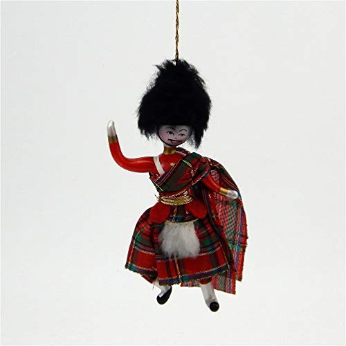 De Carlini Scottish Dancer – Kilted Boy – Italian Glass Christmas Tree Ornament