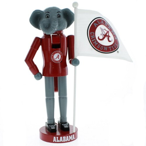 Santa's Workshop 12″ Alabama Mascot & Flag Nutcracker (Resin, Wood, Nylon)
