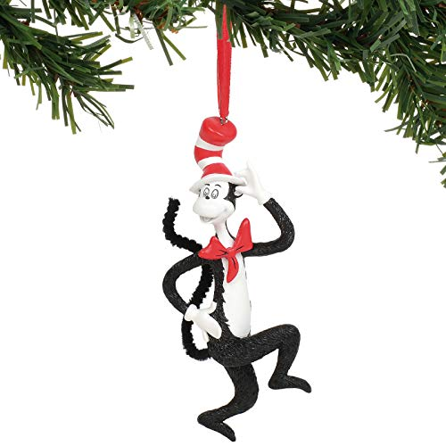 Department 56 Dr. Seuss Cat in The Hat Hanging Ornament, 4.75″, Multicolor