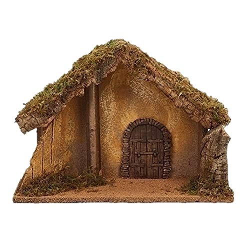 Fontanini 50428 11.25″ H Italian Stable for 5″ Scale Nativity Figures Village Building Accessory