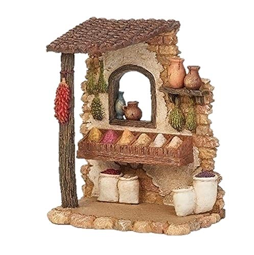 Fontanini 55604 6.5″ H Spice Shop for The 5″ Scale Nativity Figurines Village Building Accessory