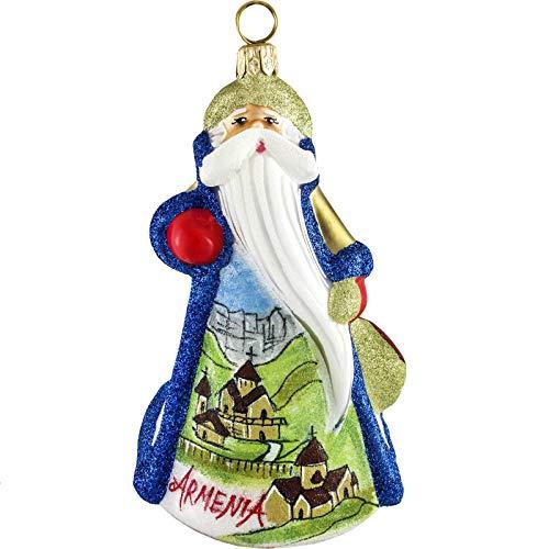 Joy to the World Collectibles Glitterazzi Armenian Santa Polish Glass Christmas Ornament